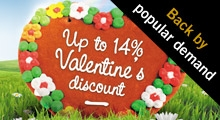 Celebrate Valentines day with our new business discount
