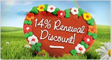 14% discount in february and march
